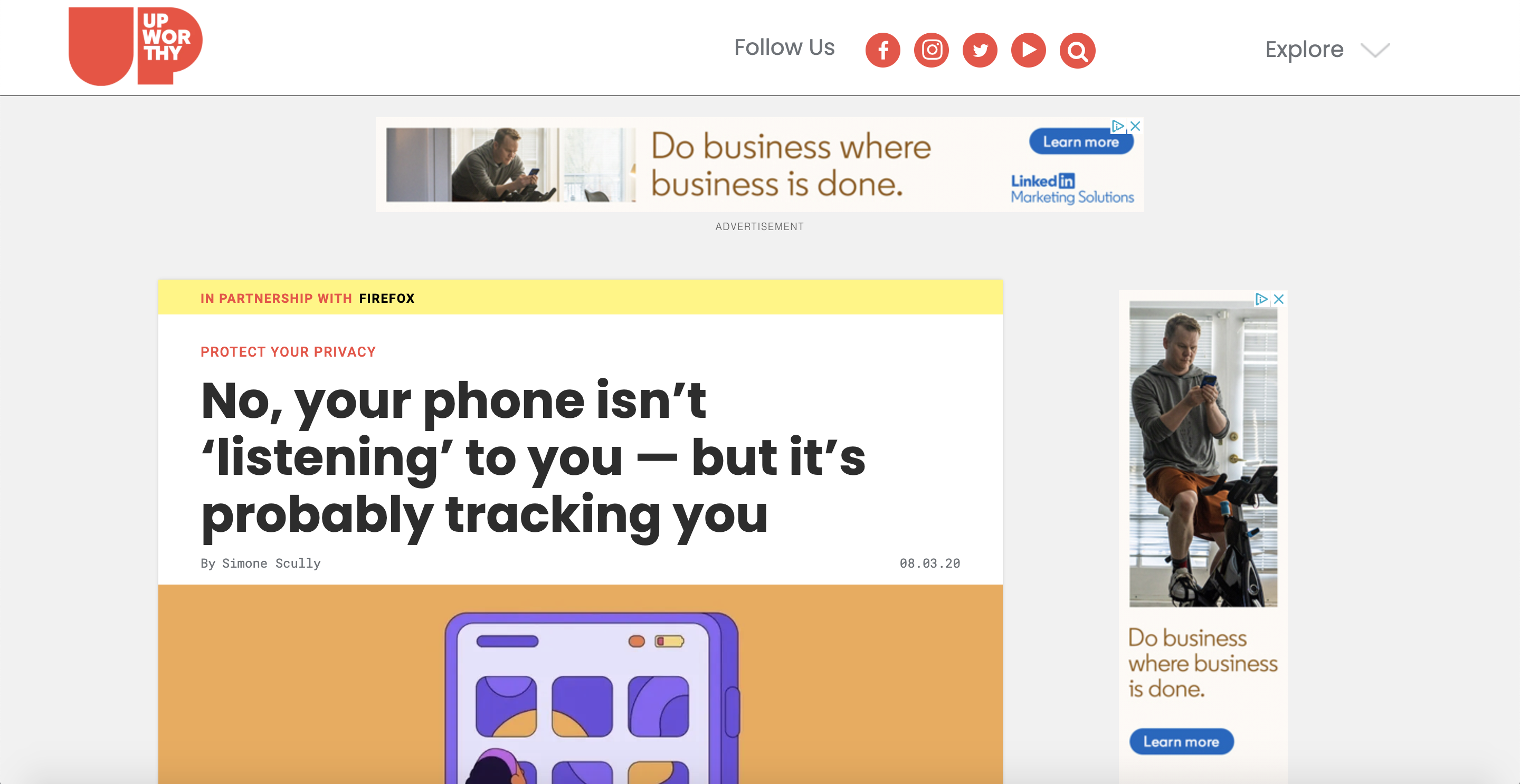 Branded content by Firefoxon Upworthy