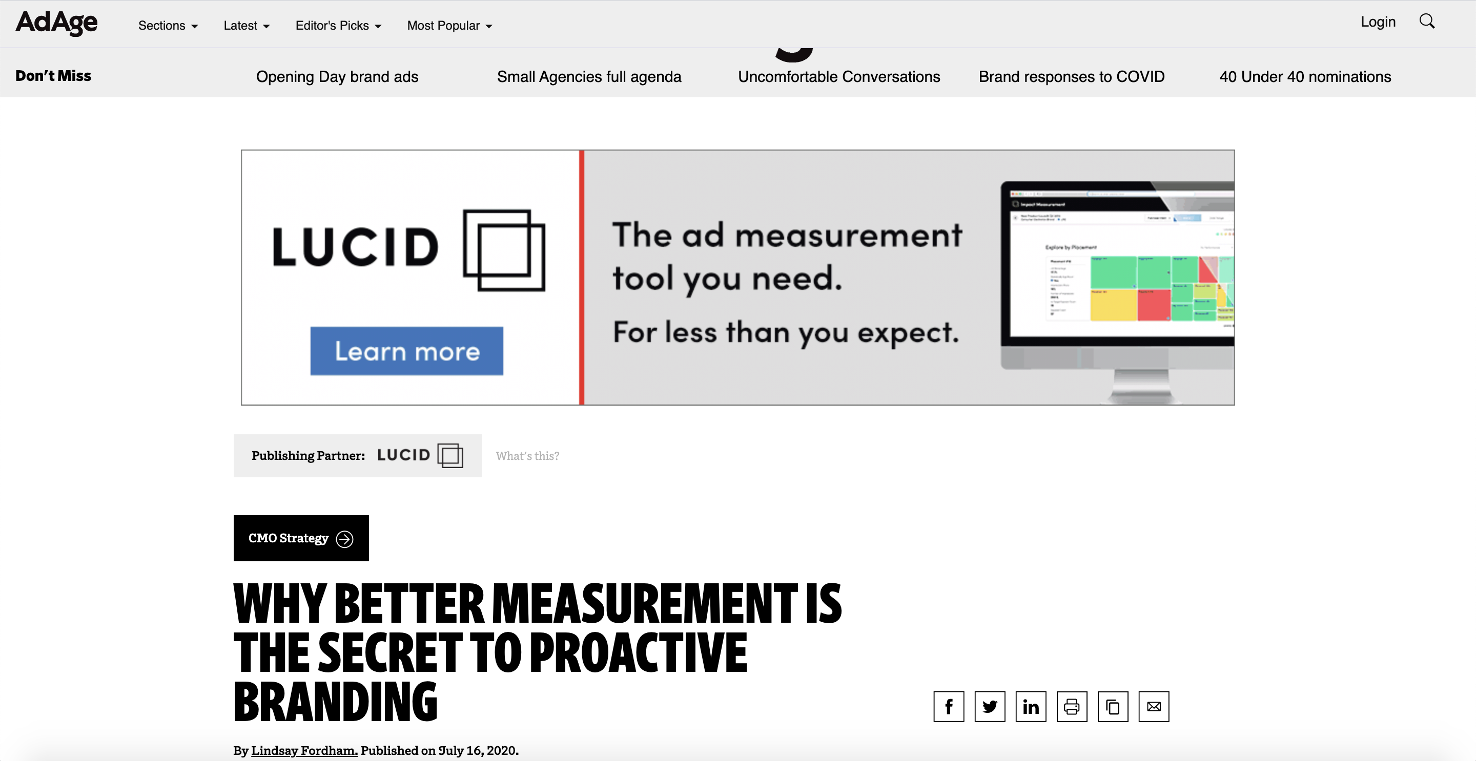 Branded content by Lucid on Adage