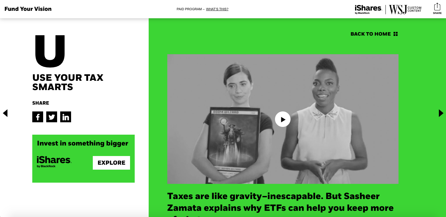branded content by ishares on wsj