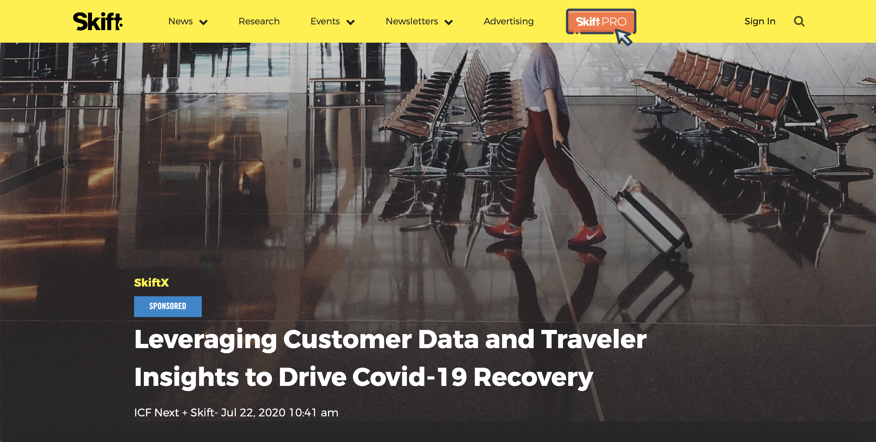Branded content by ICF Next on Skift