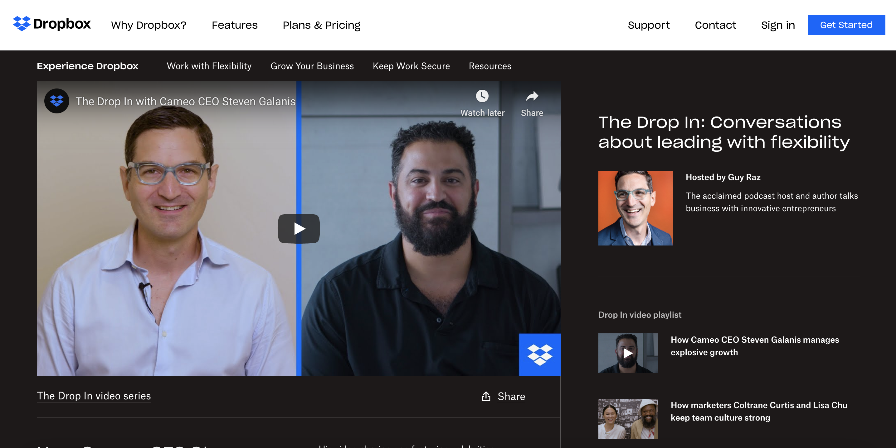 Branded content by Dropbox and Cameo