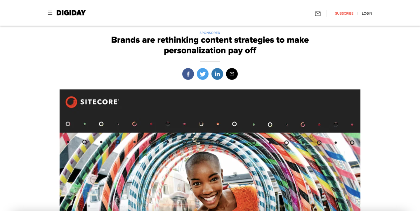 Branded content by Sitecore + Digiday