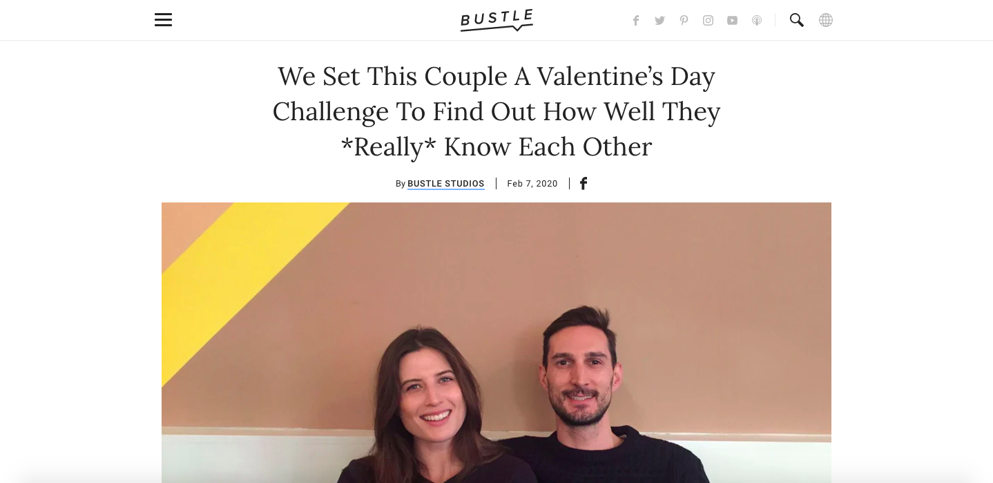 Branded Content by Pandora on Bustle