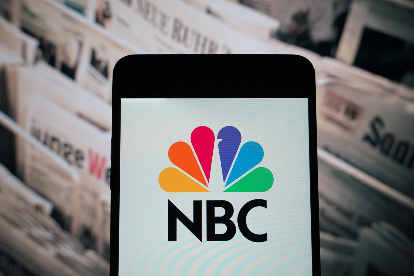 NBC logo as seen on smartphone