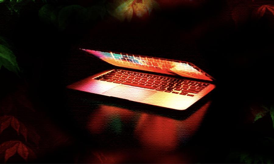 laptop opening