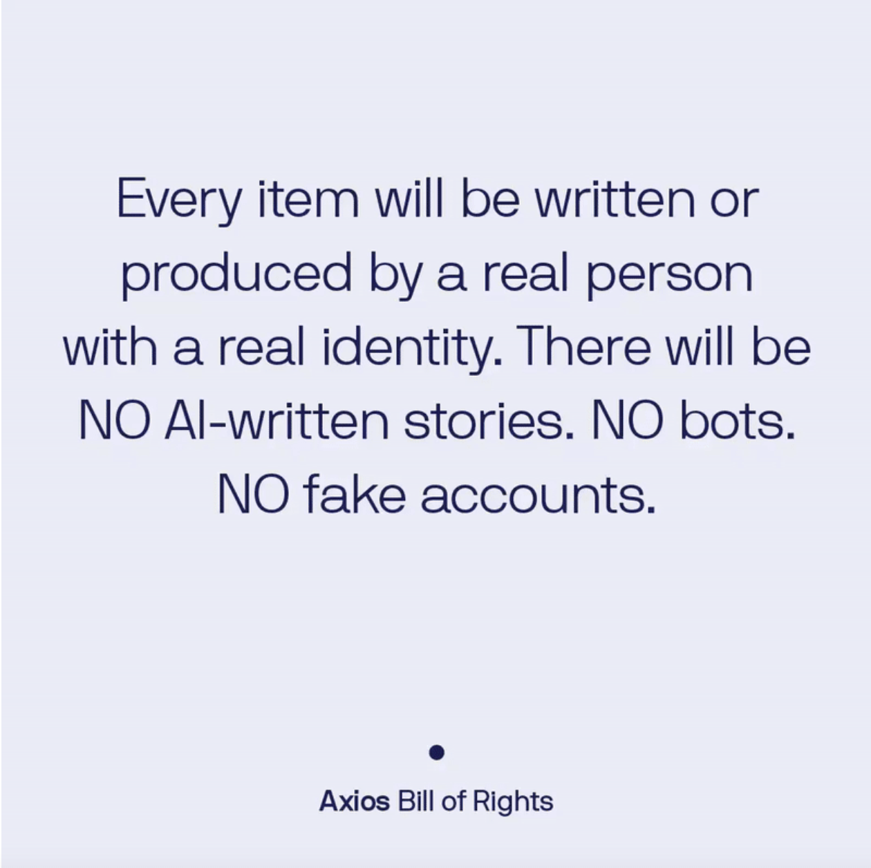 Axios Bill of Rights