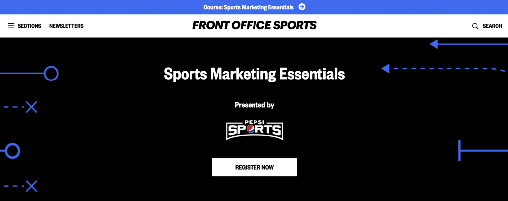 Pepsi partners with FrontOfficeSports to cover sports marketing essentials